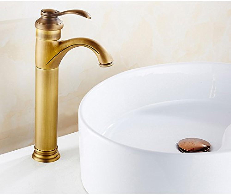 el estilo clásico WTL grifo Archaize grifo caliente y fría retro todo de de de cobre puro de cobre de estilo europeo bronce de drenaje lavabo grifo único agujero único mango de aumento ( Color    2 )  ventas de salida