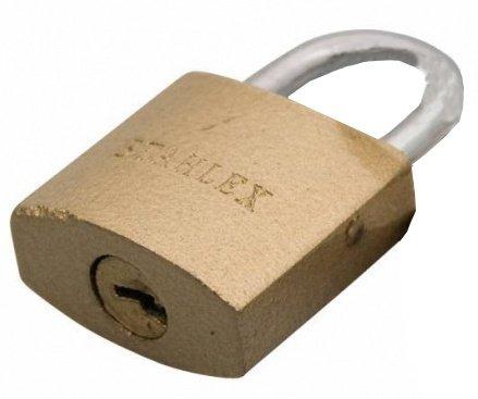 Stahlex hangslot 20 x 2.8 mm goud