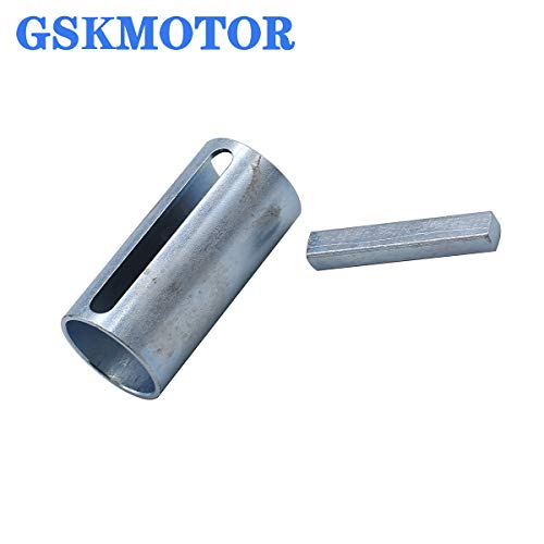 """GSKMOTOR 1"""" to 1-1/8 inch 1/4"""" Key Gas Engine Pulley Crank Shaft Sleeve Adapter"""