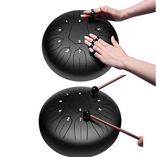 MINGDIAN 11 Notizen 10 Zoll Stahlzungen-Schlagzeug-Schlaginstrumente mit Musikpartitur, anwendbar auf Musikunterricht, Gedankenheilung, Yoga-Meditation