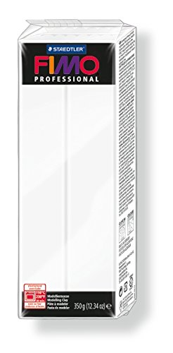 Staedtler 8001-0. Pasta para modelar Fimo Professional, color blanco. Caja con una pastilla de 350 g