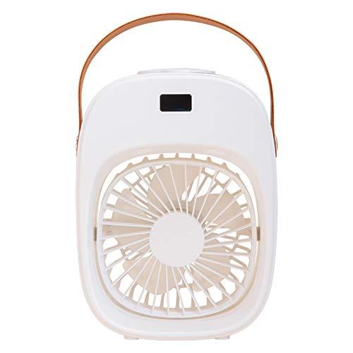 Goutui Ventilador portátil Mini humidificador portátil con luz USB recargable ventilador de mano 3 velocidades ajustable para pantalla de alimentación al aire libre