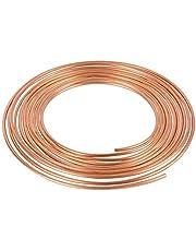 Bobina de tubería de freno de acero de cobre y níquel de 6,3 cm (1/4 pulgadas), 25 pies
