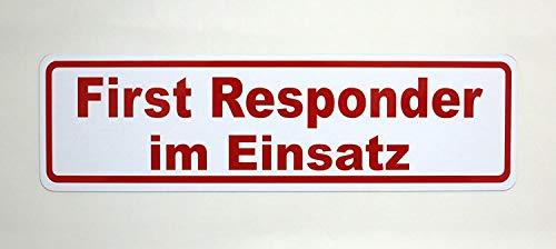 LOHOFOL Magnetschild First Responder im Einsatz | Schild magnetisch | lieferbar in Zwei Größen (35 x 10 cm)
