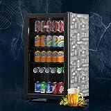 SHENXINCI Vinotecas con Puerta de Vidrio Refrigerado Simple,88L...