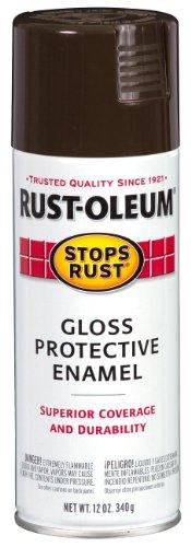 Rust-Oleum 248630 Stops Rust Spray Paint, 12-Ounce, Gloss French Roast