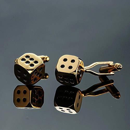 SAGIUSDM Fashion Hemd Manschettenknopf Golf Pistole Boxhandschuh Gamblers Würfel Design Kupfer Material Manschettenknöpfe, 15