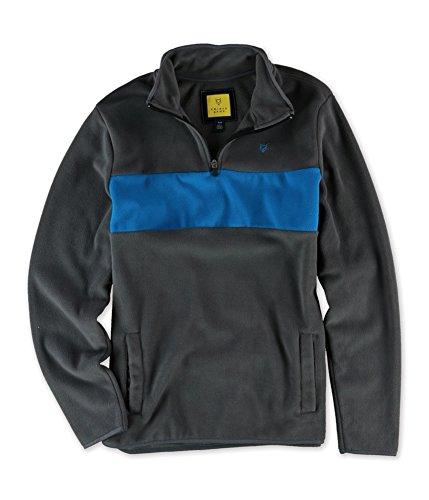 Aeropostale Mens Colorblocked 1/2 Zip Sweatshirt, Grey, X-Small