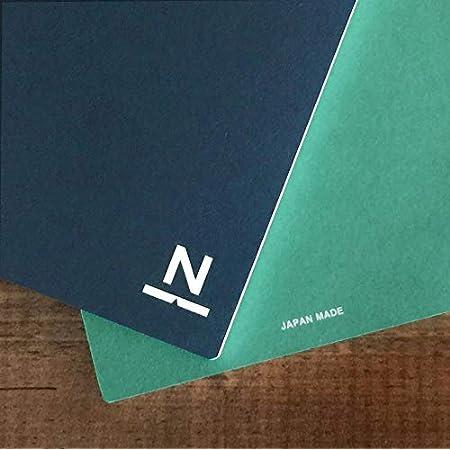 ノンブルノート「N」(16)濃藍×翡翠