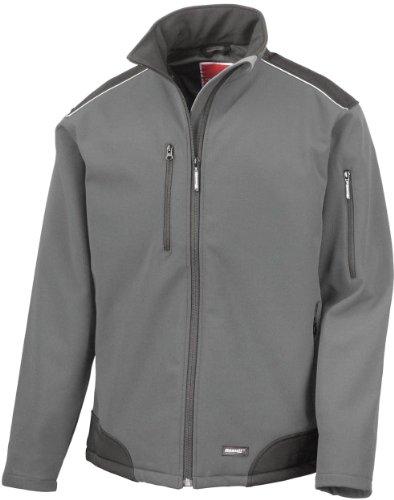 Ergebnis r124a Ripstop Softshell Workwear Jacke Small grau/schwarz