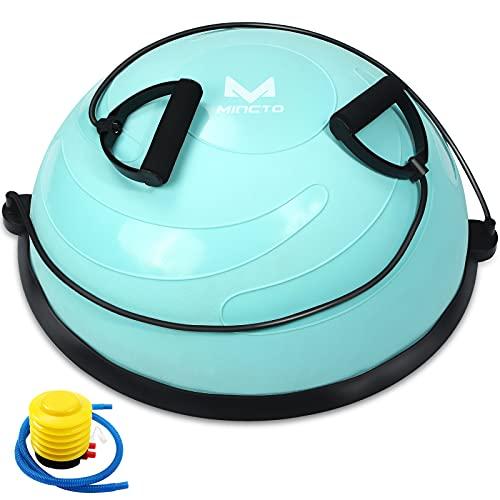 mingto Half Balance Trainer Exercise Ball Balance Half Ball Trainer Strength Training Equipment Pump for Yoga Fitness Home Gym(Blue)