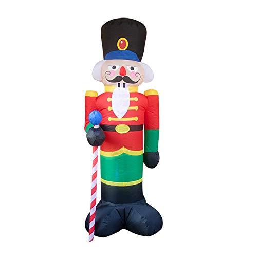 juman634 Weihnachtsaufblasbarer Nussknacker-Soldat-aufblasbare alte Welpen-Dekorationen im Freien für Yard-Rasen-Garten-Weihnachtsdekor, 2,4 M.