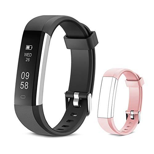 Yuanguo Fitness Armband mit Ersatzarmband Aktivitätstracker Wasserdicht Schrittzähler Armbanduhr Fitness Uhr mit Schlafmonitor Schrittzähler Kalorienzähler für Kinder Damen Herrn