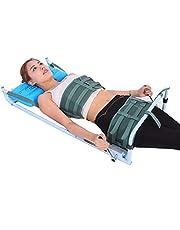 XUM Cama de tracción Lumbar, Dispositivo de Estiramiento de extensión de Columna Cervical para Uso doméstico, Alivio del Cuello y espondilosis Lumbar