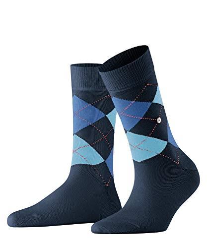 BURLINGTON Damen Socken Queen - Baumwollmischung, 1 Paar, Blau (Marine 6121), Größe: 36-41