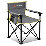 Goplus Folding Camping Chair, Portable Sport Chair w/Storage Pouch, Carrying Bag...