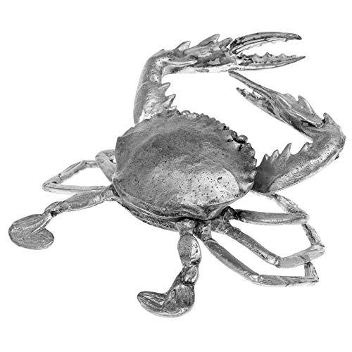 aubaho Zinnfigur in Form eines Krebs Figur Skulptur Flusskrebs Insekt Zinn Sculpture
