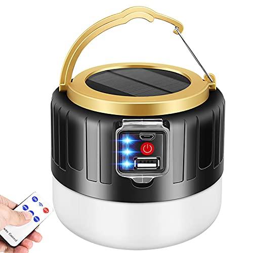 GYAM Linterna Acampar, USB Recargable Linterna Acampar Luces Tienda con Control Remoto, IP65 A Prueba De Agua, 3 Modos De Luz para Cortes De Emergencia, Senderismo
