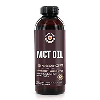 Rapid Fire MCT Oil 100% Made from Coconuts Ketogenic and Paleo Diet Approved Weight Loss Great in Keto Coffee Tea and Smoothies 16 oz  30 Servings