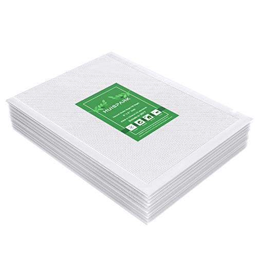 6×8 Inch Vacuum Sealer BagsHeavy Duty PreCut Design Commercial Grade Food Sealable Bag for Heat Seal Food StorageSmell Proof Bags Boilsafe to 280°F Freezable ResizableReuseable 100Pcs