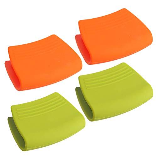 BESTONZON 2 paia Mini Forno Medio Resistente al calore Cucina Manopole Silicone Presine Presine (Colore casuale)