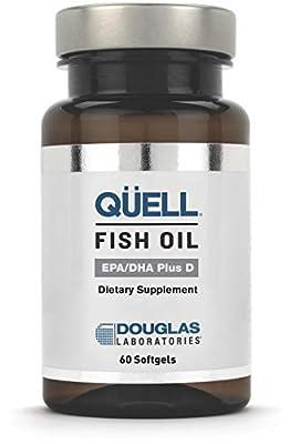Douglas Laboratories - Quell Fish Oil EPA/DHA Plus D - 3:2 Ratio of EPA & DHA Essential Omega 3 Fatty Acids Plus 1,000 I.U. of Vitamin D3 - 60 Softgels