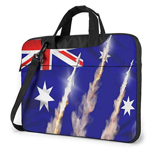 Modern Australia Flag Laptop Case 13 Inch Computer Carrying Protective Case with Strap Bag