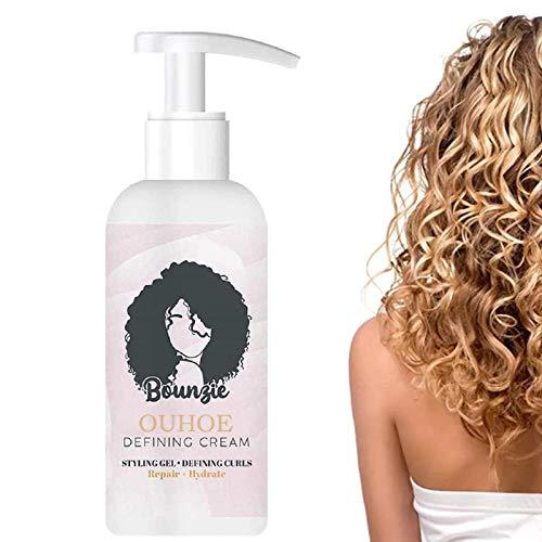 Curl Hair Boost Defining Cream,Curly Defining Booster,Curl Booster,Bounce Hair Curl Activator für Locken Sprungkraft und Locken Pflege Curl Defining Cream,Curly Hair Product,Locken Styling Produkte