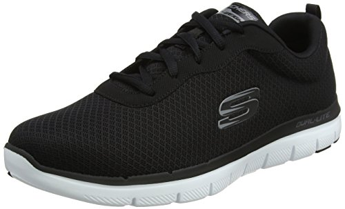 Skechers Flex Advantage 2.0-Dayshow, Zapatillas Hombre, Negro (BKW Black Mesh/Trim), 41 EU