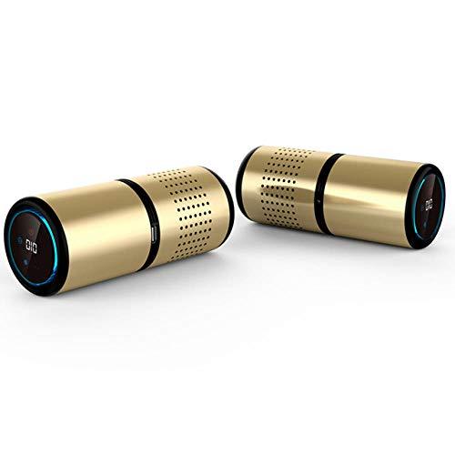 Auto-luchtreiniger Cabine Ionizer Freshener Geur Eliminator Luchtfilter Zuurstofstaaf Draagbare ionische reiniger USB Verwijder Geur Rook Goud