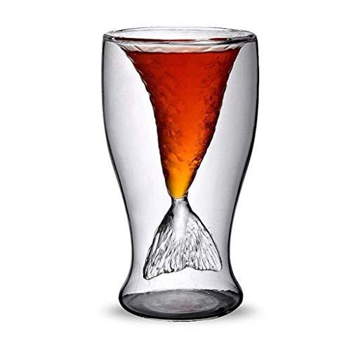 Wffo Vodka Shot - Vaso con decantador para Bebidas (100 ml), diseño de Sirena, Tacto Suave y Acabado Fino