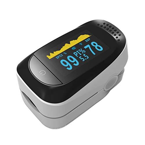 DAIMANPU Protable Finger Clip Pulsoximeter Fingerspitze Herzfrequenzmesser Oxymeter Anwendbar für den Heimgesundheitstest für Erwachsene Verwenden Sie Haushaltszubehör