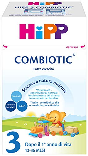 HiPP - Latte 3 Combiotic Crescita, In Polvere, 4 Confezioni Da 600 G - 2400 g