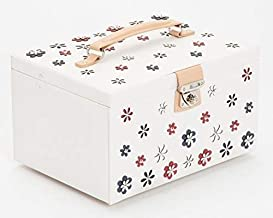 WOLF 467053 Blossom Large Jewelry Box, White