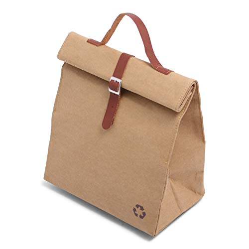 Washed Kraft Lunchbag Rugzak, 25 cm, 8 L, Brown