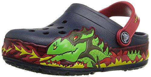 Crocs Crocs CrocsLights Fire Dragon Clog Kids, Jungen Clogs, Blau (Navy), 22/23 EU
