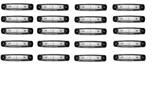 20x 6 SMD LED Begrenzungsleuchten Weiß 12V 24V Positionsleuchten LKW Anhänger