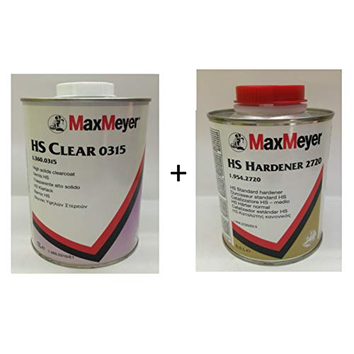 MaxMeyer HS Trasparente Clear 0315 + CATALIZZATORE Vernice Auto CARROZZERIA 1LT
