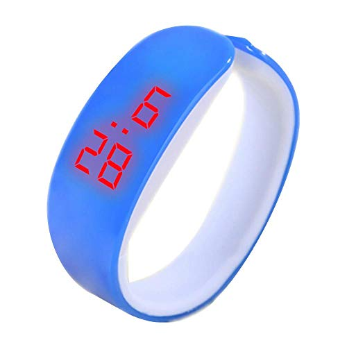 Tonsee LED Digitalanzeige Armbanduhr Fitness Armband Silikon Stoppuhren Sportuhren Schrittzähler Kalorienzähler Sport Smart Uhr Mode Sport Uhr Delphin Uhr für Damen Herren und Kinder (Blau)