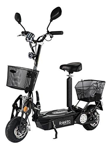 Rolektro eco-Fun 20 V.2 SE Schwarz Faltbarer Elektroroller 20 Km/H Straßenverkehrszulassung 500 W Keine Helmpflicht