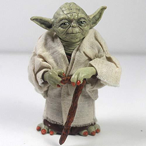 Hclshopsc Star Wars Animación Modelo, Modelo Yoda Estatua, Escritorio Decoración, 13cm