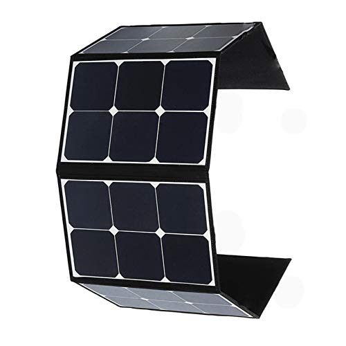 120W Portable Foldable Solar Panel Battery Charger + Dual USB Ports & 18V DC Output for Cell Phone Laptop Tablet GPS Camera