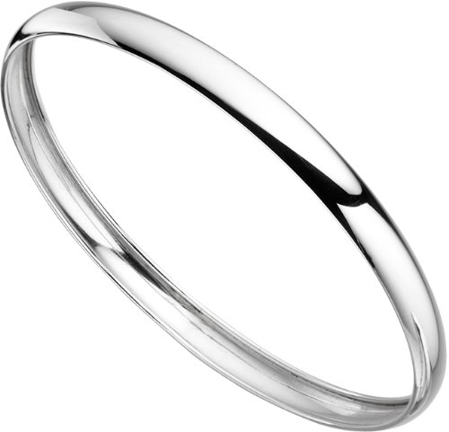 Elements Silver Ladies' Plain Sterling Silver Bangle