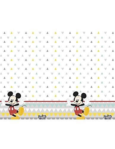 ALMACENESADAN 1126; Mantel para Fiestas y cumpleaños Disney Mickey Mouse; Dimensiones del Producto 120x180 cm;
