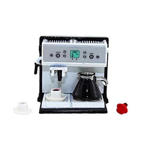 1:12 Miniatur Simulation Kaffeemaschine Set Modell Spielzeug Haus Mini Restaurant Dekoration Zubehör (A, 36 x 36 x 30 mm)