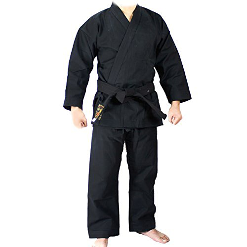 YORYU Karategi Master 12 oz Keikogi Negro, Negro, TG.2/150 cm