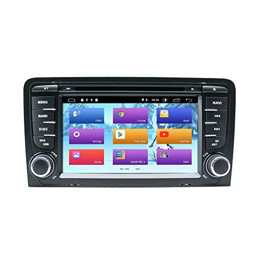 Lettore DVD per autoradio Android 10 per Audi A3 S3 RS3 Autoradio GPS Navigazione Audio 7 pollici IPS Touch Display Lettore multimediale Doppia unità Din Head Supporto DSP Schermo Specchio WiFi SWC