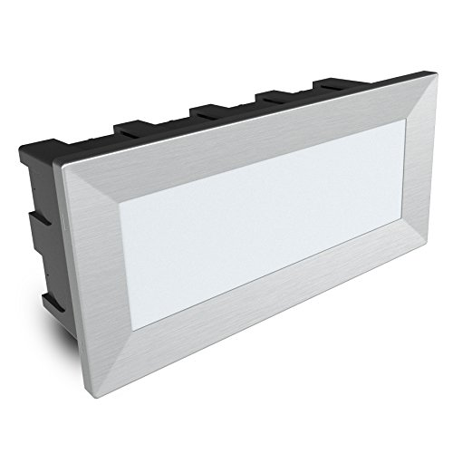 SSC-LUXon® LED Wandstrahler Piko-L - große Einbauleuchte 230V mit IP65 Wasserschutz für Außen & Innen (3,5W, neutralweiß)