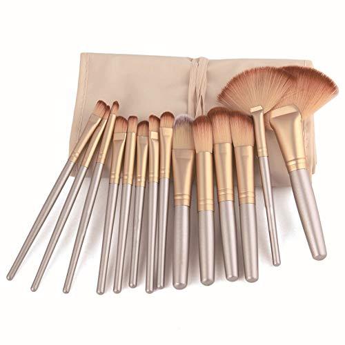 Make Up Brush Set Professional 32 pcs, pinceaux de maquillage Fondation lèvres brosse oeil brosse visage brosse Pinceau fard à paupières avec un sac en nylon noir,D'or