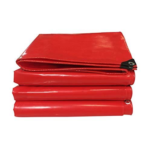Verdicken Sie wasserdichte schwere Plane regenfestes Messer Kratzen rot Ausstellung Plane heiraten Weinhaus Carport Pavillon Push-Pull Tuch Schatten Anti-UV LIUDINGDING (Color : Red, Size : 4x5m)